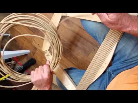 How to Weave a Rush Frame with Variations on Wrapping Corners