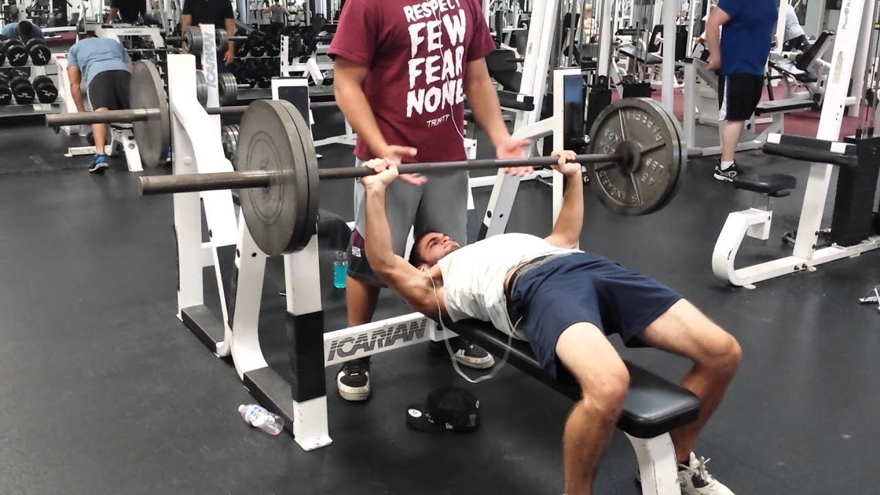 Bench press 225 8 reps YouTube
