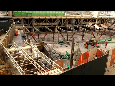 Speeded up Waterloo Station Eurostar Terminal demolition Oct 2016 - May 2017 timelapse