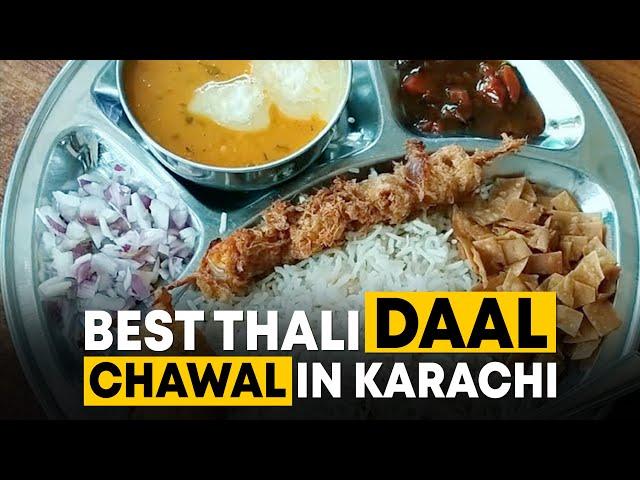 Best Thali Daal Chawal In Karachi