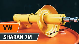 Jak vyměnit Tlumiče pérování на VW SHARAN (7M8, 7M9, 7M6) - online zdarma video