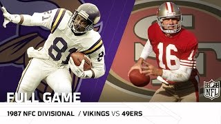 1987 NFC Divisional Playoffs: Minnesota Vikings vs. San Francisco 49ers | NFL Full Game