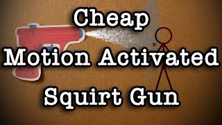 Cheap Motion Activated Squirt Gun Prank