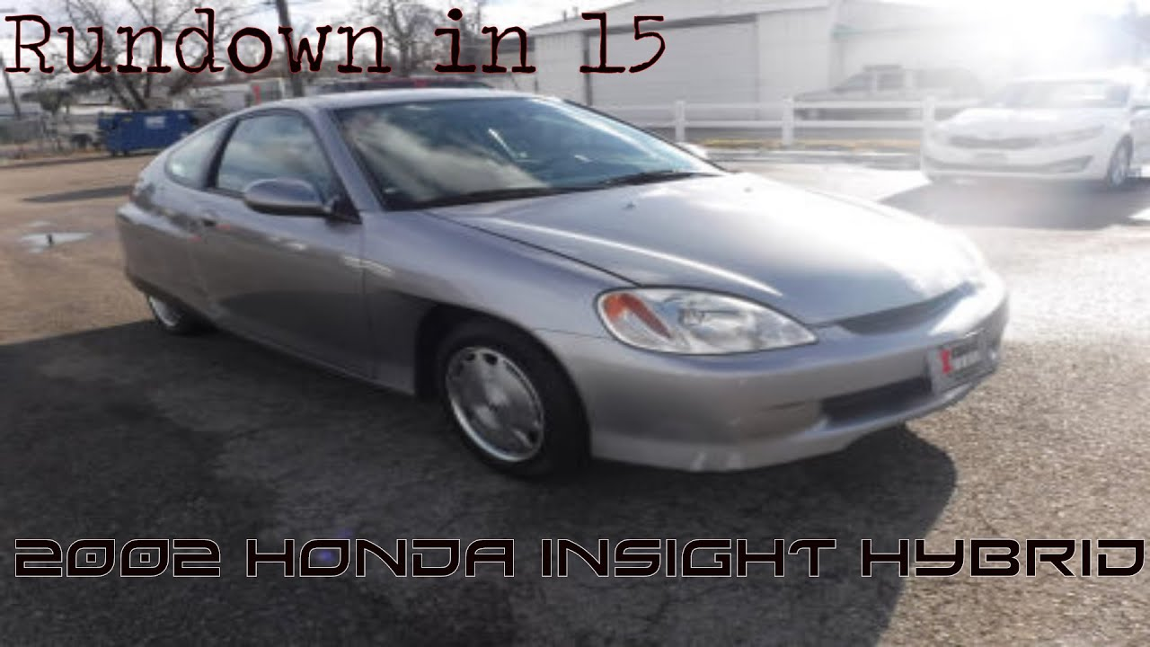 rundown in 15 2002 honda insight hybrid 1st gen cvt. Black Bedroom Furniture Sets. Home Design Ideas