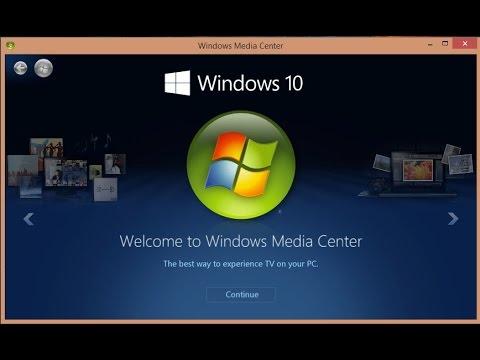 Como instalar Windows Media Center en windows 10 pro