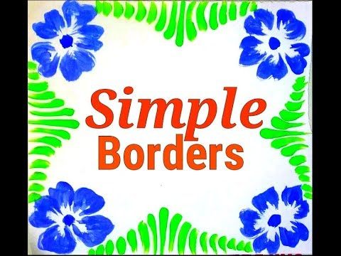 Border Designs On Paper Simple Easy Youtube