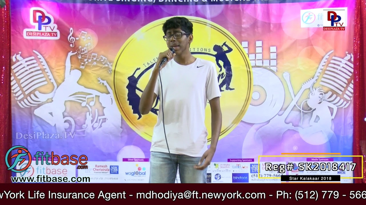 Participant Reg# SK2018-417 Performance - 1st Round - US Star Kalakaar 2018 || DesiplazaTV