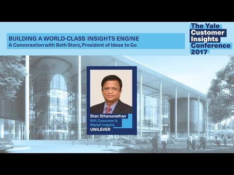 Stan Sthuanunathan, Unilever: Building a World-Class Insights Engine