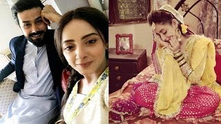 Sanam Chaudhry and Ali Abbas on the sets of upcoming Drama Noor Bibi
