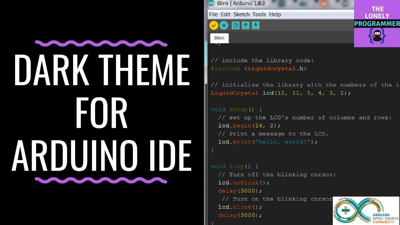Dark Theme for Arduino IDE - Arduino Project Hub