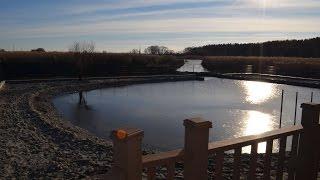 Строительство пруда. Укрепление берега габионами.(, 2015-01-20T15:35:51.000Z)
