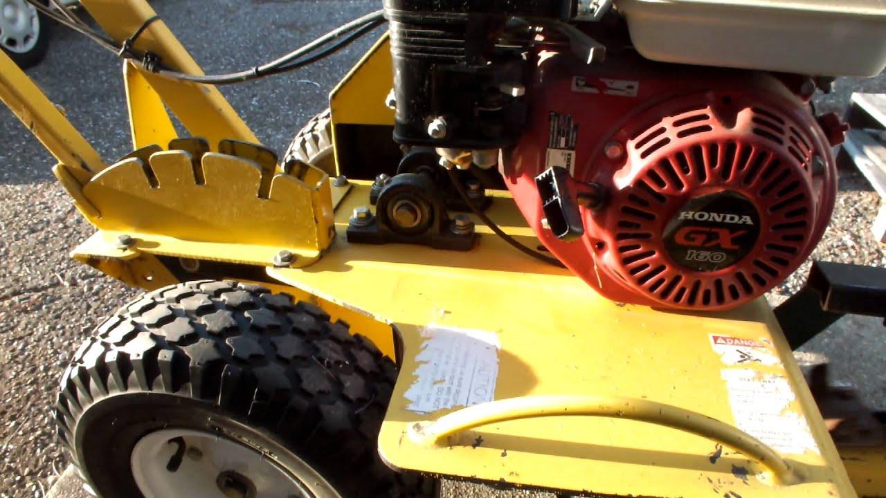 Groundhog trencher T4 with Honda GX160 gas engine vid1