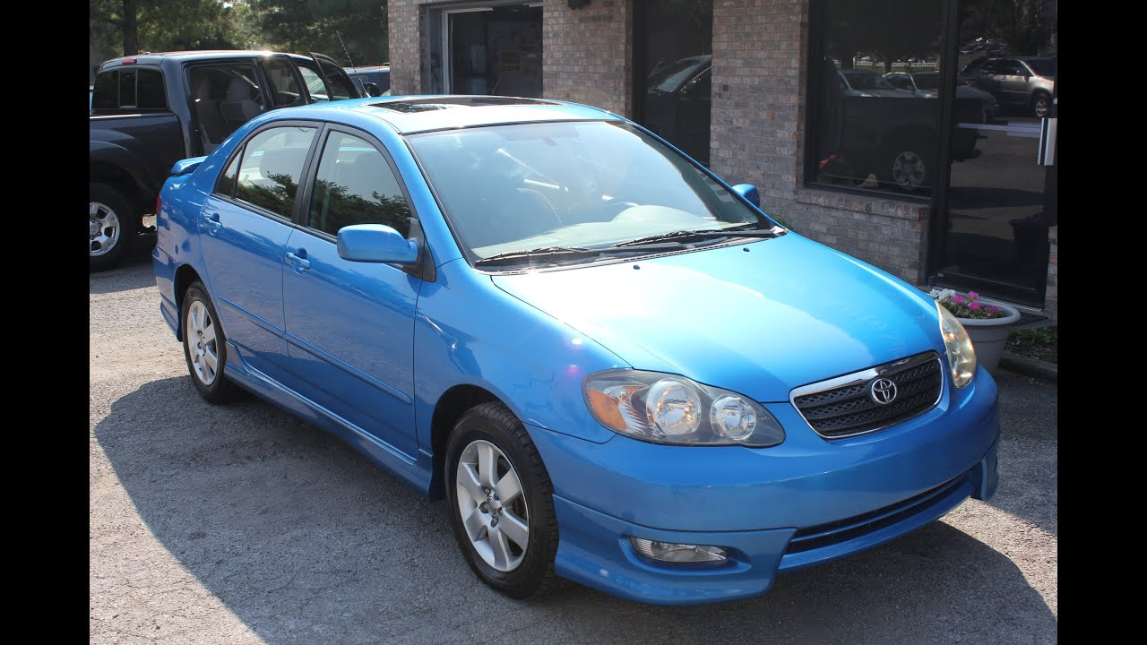 SOLD Used 2007 Toyota Corolla S SUNROOF KENTUCKY BLUE Geor own