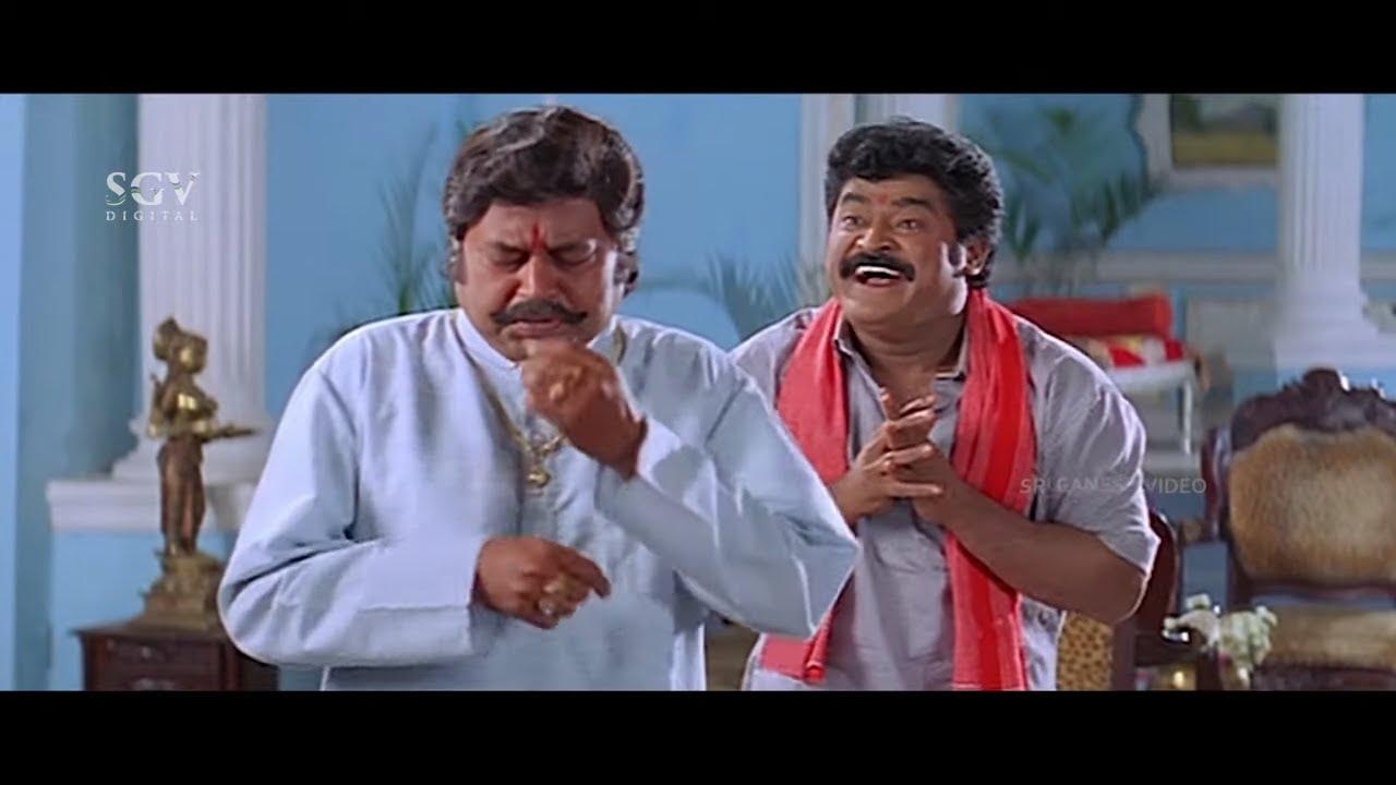 Jaggesh Fools Lokesh by Rubbing Onion on Eyes   Comedy Scene   Tennis Krishna   Patela Kannada Movie