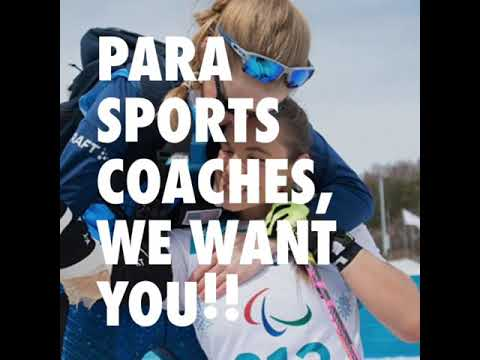 Parasports Coaches, WE WANT YOU !!!