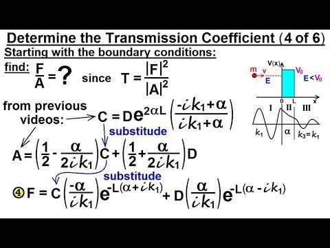 Physics - Ch 66 Ch 4 Quantum Mechanics: Schrodinger Eqn (86 of 92) Transmission Coeff=? (4 of 6)