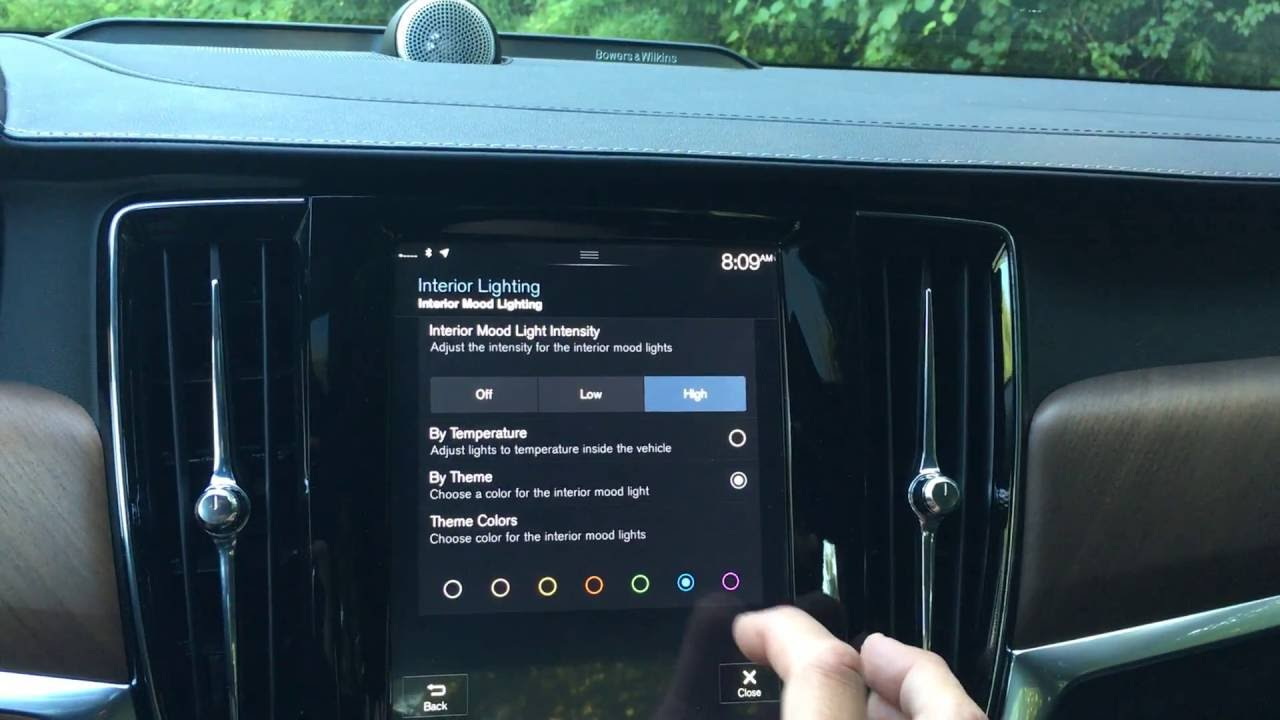 How to Turn on Interior Ambient Mood Lights in your 2016 & Newer Volvo S90, XC90, or V90 - YouTube