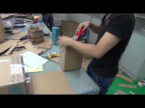 Упаковка заказа в магазине chinavasion com. Картон, скотч, стикеры.