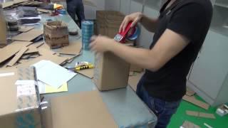 Упаковка заказа в магазине chinavasion com. Картон, скотч, стикеры.(, 2015-08-29T14:34:10.000Z)