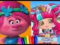 Dreamworks TROLLS poppy Vs. Shopkins DONATINA New Season Coloring Book Page for Kids