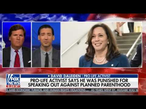 David Daleiden with Tucker Carlson on Kamala Harris Assault on First Amendment Civil Rights
