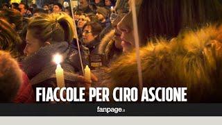 Ciro Ascione, trovato morto sui binari: fiaccole e palloncini ad Arzano per ricordarlo