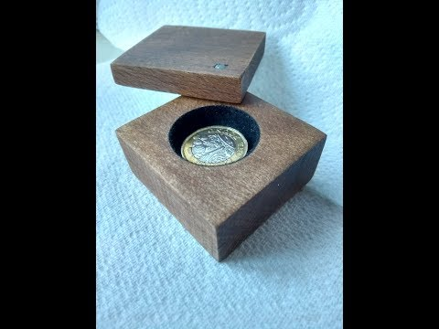 DIY beech wooden jewellery box for ring