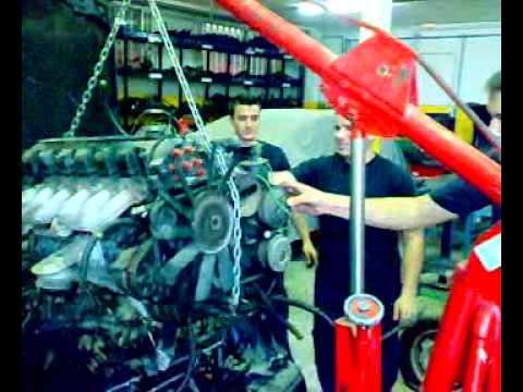 Extraer motor 6 cilindros en linea longitudinal