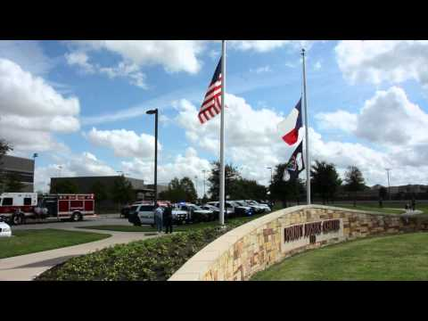 #BackTheBlue lighting ceremony at Forney Police Department