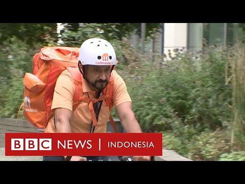 Mantan menteri Afghanistan menjadi kurir makanan - BBC News Indonesia