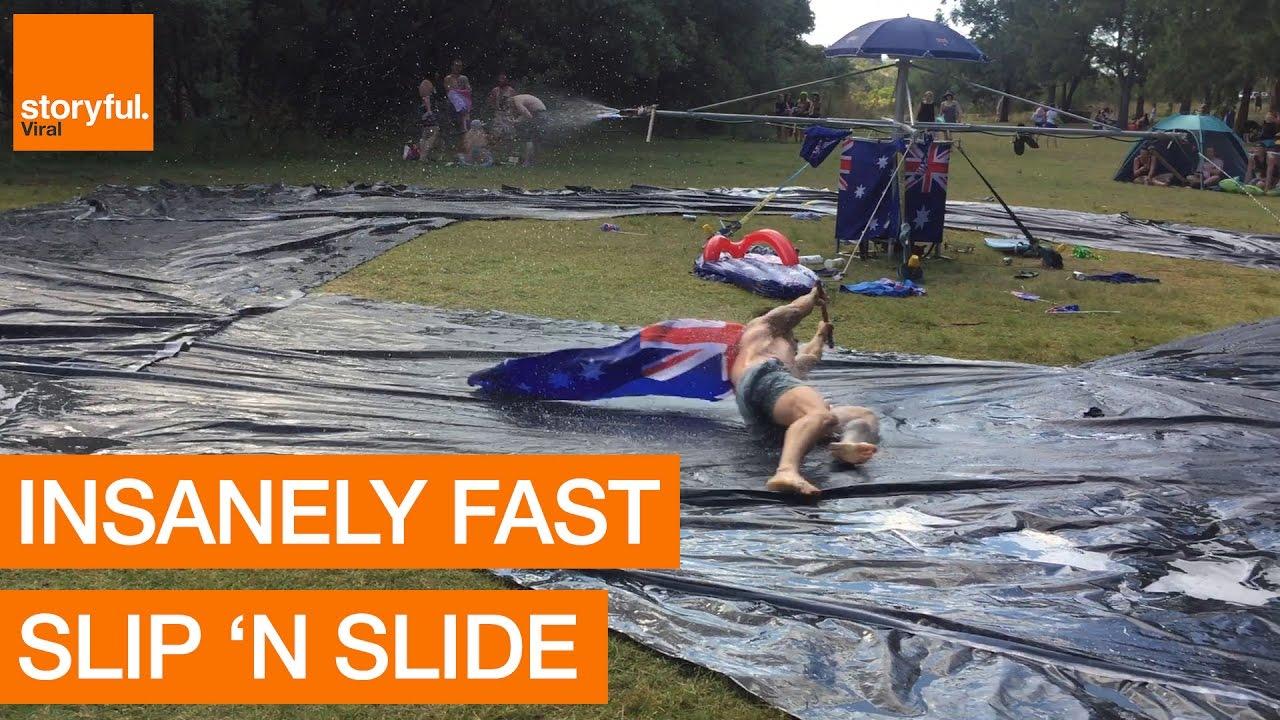 rapporto qualità-prezzo nuovo stile di originale più votato Insane Homemade Water Slip and Slide in Australia - YouTube