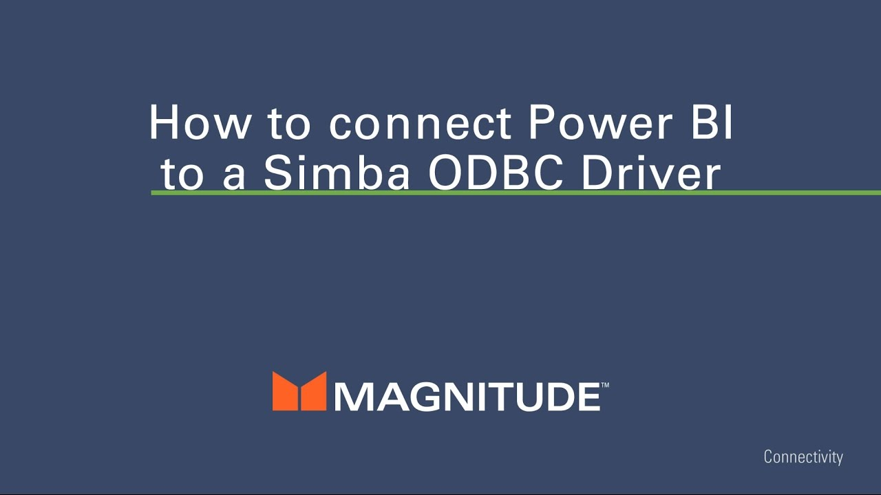 How to Connecto PowerBI to any data source through an ODBC driver