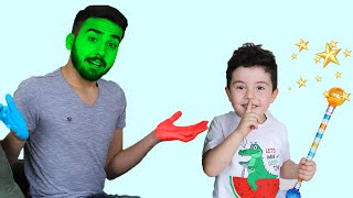 Sihirli Renkli Dönüşüm! Yusuf Pretend Play Colored Transform with Magic Wand | Funny Kids Video