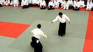 Yukimitsu Kobayashi shihan (7 dan aikido aikikai) - Cluj, Romania, feb.2011