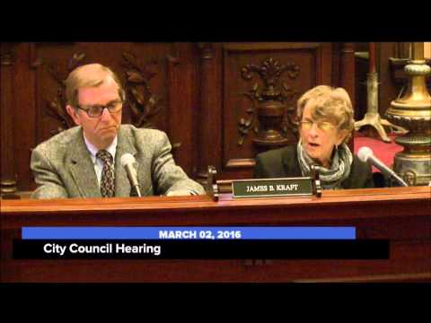 City Council Hearing; March 2, 2016