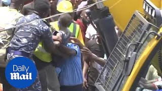 Large rescue effort underway after building collapsed in Lagos