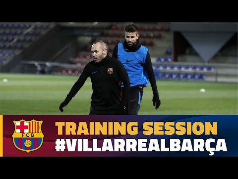 Last training session before the trip to Villarreal