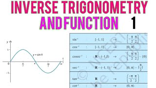 inverse trigonometry and function class 12  maths basic concept p-1