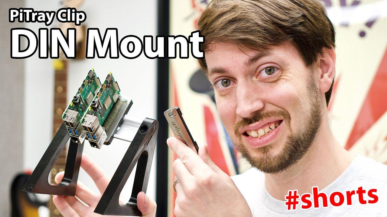 DIN Rails make Pi mounting easy!