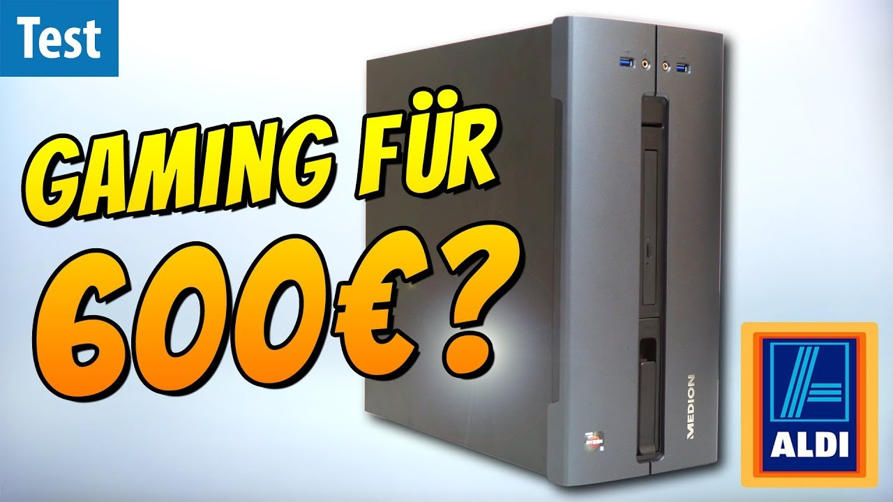 gaming pc f r 600 was taugt der aldi pc medion akoya p56000 youtube. Black Bedroom Furniture Sets. Home Design Ideas