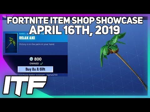 Fortnite Item Shop *NEW* RELAX AXE! [April 16th, 2019] (Fortnite Battle Royale)