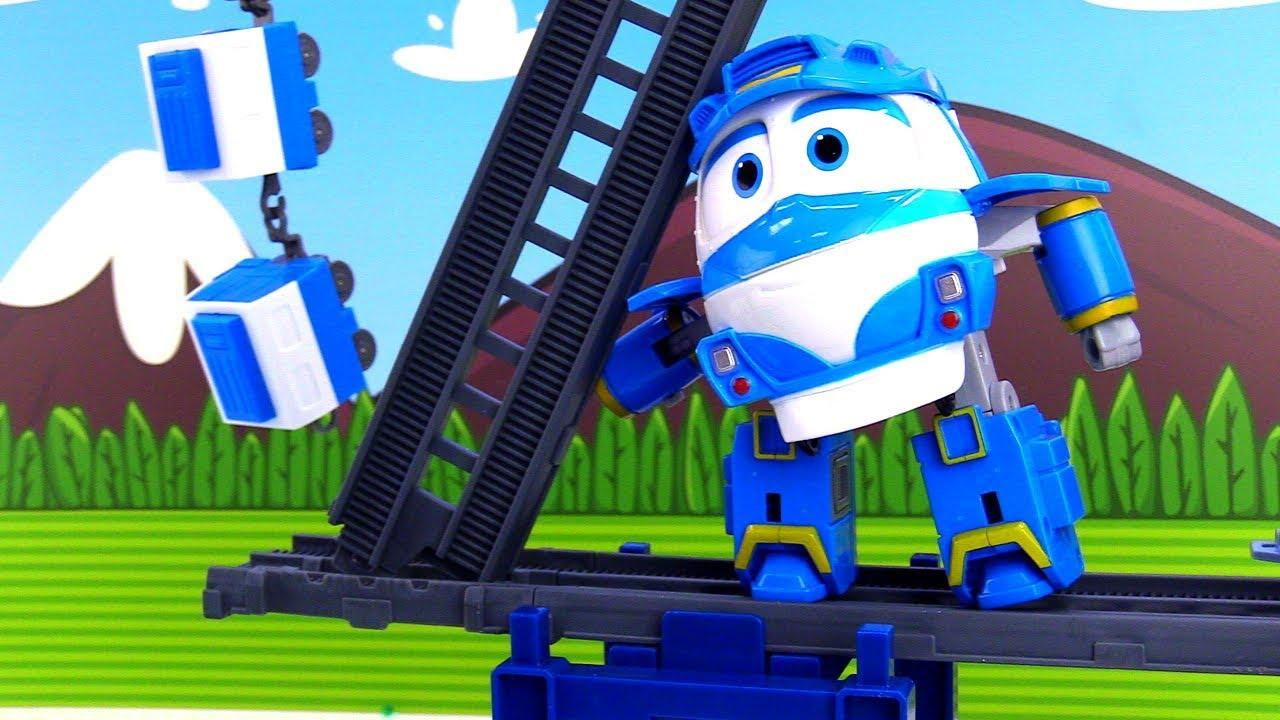 Видео для мальчиков - Роботы-поезда - Ремонт железной ...