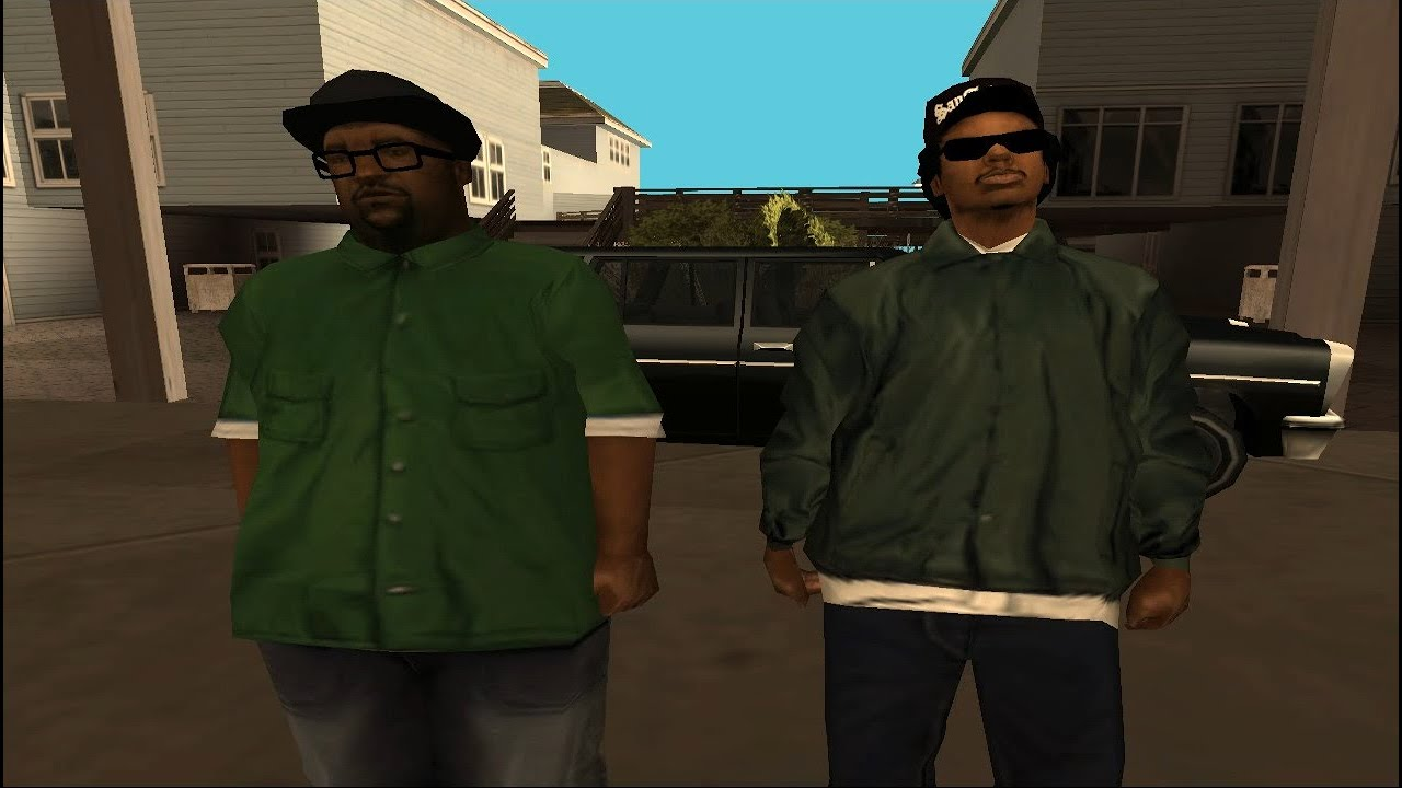 gta san andreas CJ kill Ryder and big smoke in mission pier69 - YouTube