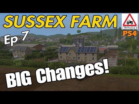 SUSSEX FARM, Ep 7 (BIG Changes!). Farming Simulator 17 PS4, Let's Play.