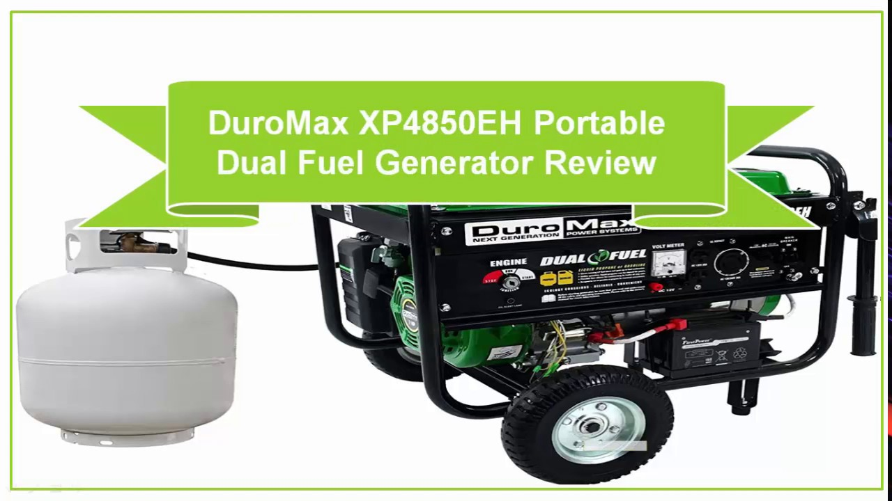 duromax xp4850eh portable dual fuel generator review youtube
