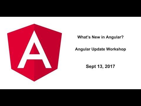 What's New in Angular? | Angular Update Workshop