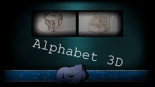 Graffiti alphabet #1 : 3D style
