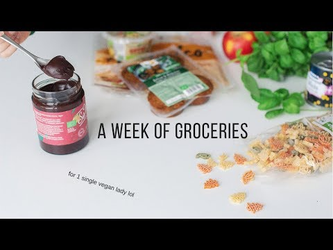 A Week of Vegan Groceries for One.