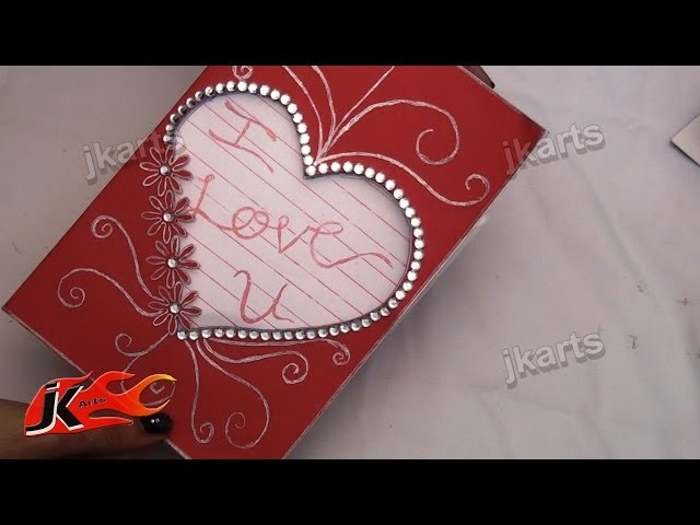 DIY How to make valentines day Greeting Card | JK Arts 123