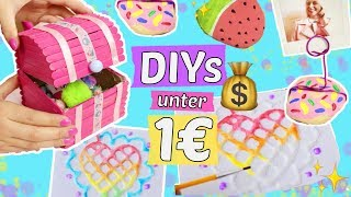 3 neue 1€ DIYs gegen LANGEWEILE 😍DIYs die nichts kosten 💸PINTEREST DIY IDEEN